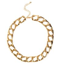 ASOS Collection - Metallic Asos Vintage Style Flat Link Necklace - Lyst