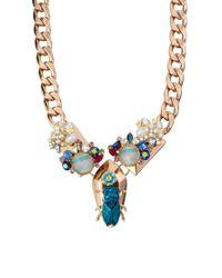 ASOS Collection - Multicolor Asos Floral Bug Necklace - Lyst