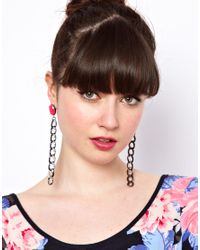ASOS Collection - Metallic Asos Curb Chain Link Drop Earring - Lyst