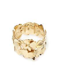 Aurelie Bidermann - Metallic Gold Plated Ginkgo Feather Articulated Cuff - Lyst