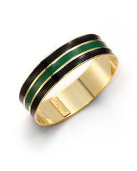 A.V. Max | Green Ribbed Enamel Bangle Bracelet | Lyst