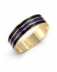 A.V. Max - Blue Ribbed Enamel Bangle Bracelet - Lyst