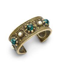 Ben-Amun | Green Byzantine Cuff Bracelet | Lyst