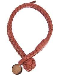 Bottega Veneta | Red Intrecciato Double-band Bracelet | Lyst