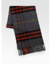 Burberry | Gray Giant Iconic Scarf for Men | Lyst