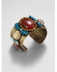 DANNIJO | Metallic Katniss Embellished Cuff Bracelet | Lyst