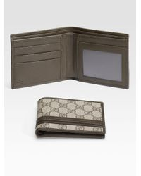 654c548cb20521 Gucci Bifold Wallet with Id Window in Natural for Men - Lyst