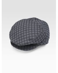 b11c4522 Lyst - Gucci Driver Hat in Gray for Men