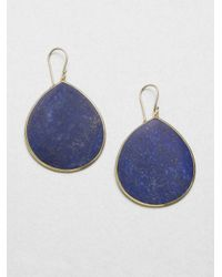 Ippolita | Blue Lapis & 18K Yellow Gold Teardrop Earrings | Lyst