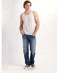Joe's Jeans | White Linen Tank for Men | Lyst