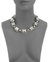 Judith Leiber - Multicolor Swarovski Crystal Enamel Collar Necklace - Lyst