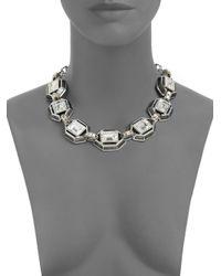 Judith Leiber | Multicolor Swarovski Crystal Enamel Collar Necklace | Lyst