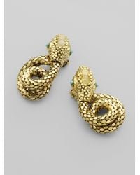 Kara Ross - Metallic Jeweled Snake Earrings - Lyst