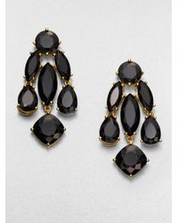 kate spade new york | Black Faceted Statement Chandelier Earrings | Lyst