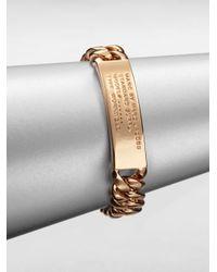 Marc By Marc Jacobs - Metallic Standard Supply Id Bracelet - Lyst