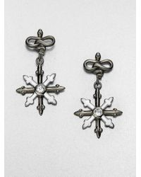 M.c.l  Matthew Campbell Laurenza - Metallic White Topaz Enamel and Sterling Silver Earrings - Lyst