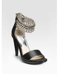 MICHAEL Michael Kors | Black Winsor Chain-strap Sandals | Lyst