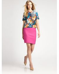 Peter Som | Pink Pencil Skirt | Lyst
