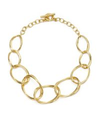 Slane | Metallic Aura Twisted Link Necklace | Lyst
