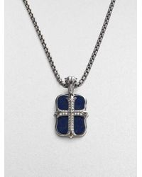 Stephen Webster | Metallic Mini Gothic Cross Pendant for Men | Lyst