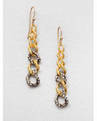 Alexis Bittar - Gray Cordova Chain Link Drop Earrings - Lyst