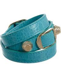 Balenciaga - Blue Arena Giant Double Tour Bracelet - Lyst