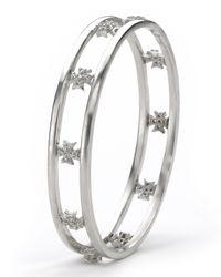 Elizabeth Showers - Metallic White Sapphire Maltese Bangle - Lyst