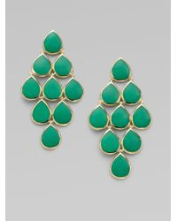 Ippolita - Green Chrysoprase 18k Gold Cascade Earrings - Lyst