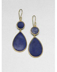Ippolita - Metallic Polished Rock Candy Lapis & 18K Yellow Gold Snowman Drop Earrings - Lyst