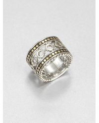 John Hardy - Metallic Sterling Silver and 18k Yellow Gold Dot Ring - Lyst