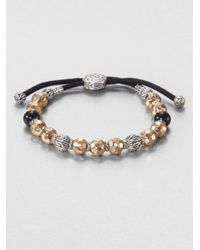 John Hardy | Metallic Palu Beaded Bracelet for Men | Lyst