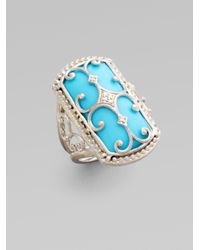 Jude Frances | Blue Turquoise Diamond and Sterling Silver Ring | Lyst