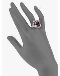 Judith Ripka - Metallic White Sapphire Crystal Cocktail Ring - Lyst