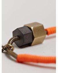 Lanvin - Orange Mens Simple Woven Bracelet for Men - Lyst