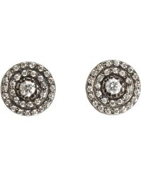 Ileana Makri - Metallic Diamond Solitaire Stud Earrings - Lyst