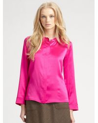 Marc By Marc Jacobs | Pink Disco Satin Top | Lyst