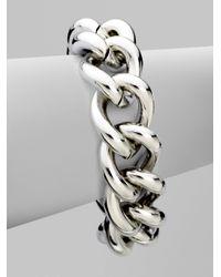 Michael Kors | Metallic Chunky Turnlock Chain Link Bracelet | Lyst
