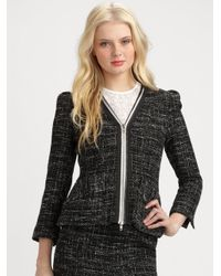 Nanette Lepore | Black Wizard Tweed Jacket | Lyst
