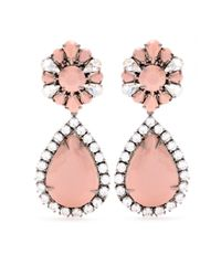 Shourouk - Pink Roma Embellished Earrings - Lyst