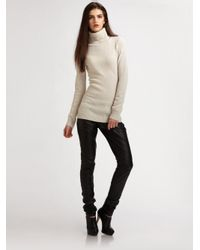 Theory | Black Torina Cashmere Cardigan - Oatmeal Heather | Lyst