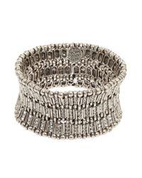 Philippe Audibert - Metallic Ava Crystal Bar Link Cuff - Lyst