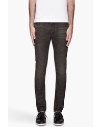Saint laurent Black Faded and Used Strong Skinny Jeans in Black ...