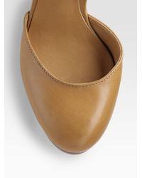 Tory Burch - Brown Drea Wood Wedge Sandals - Lyst