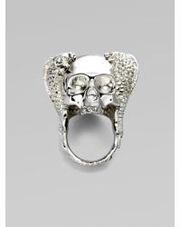 Alexander McQueen - Metallic Koi Skull Ring - Lyst