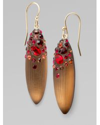Alexis Bittar | Brown Ruby Dust Crystal Pod Earrings | Lyst