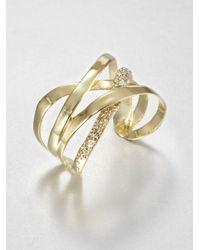 Alexis Bittar - Metallic Crossover Ribbon Cuff Bracelet - Lyst