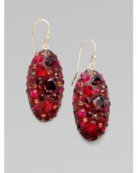 Alexis Bittar - Red Ruby Dust Crystal Pavé Small Marquis Earrings - Lyst