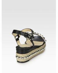 christian louboutin leather espadrille wedges | cosmetics digital ...