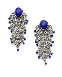 Clara Kasavina | Blue Filigree Chandelier Earrings | Lyst
