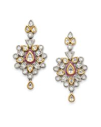 CZ by Kenneth Jay Lane | Metallic Raja Ruby Earrings | Lyst